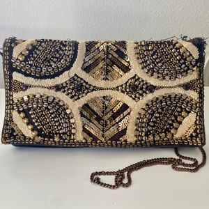 Urban Outfitters Sequined Leather Crossbody Bag